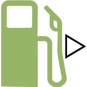 給油口の位置場所が右にある場合の表示