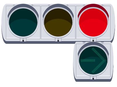 右向き矢印信号のルールや意味・見方 (車庫証明青森)