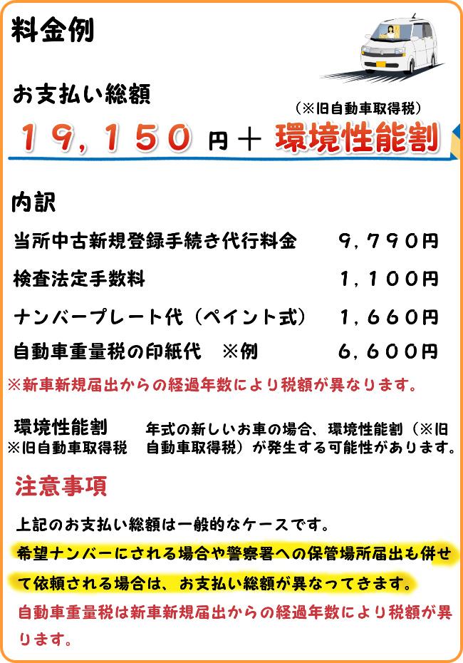 軽自動車 中古新規検査 代行 料金