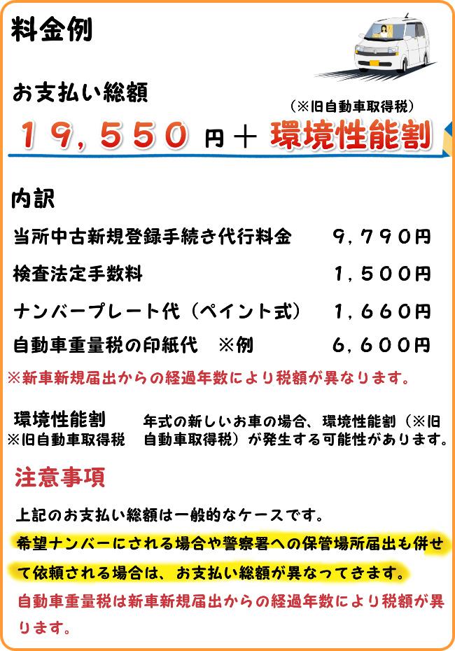 青森ナンバー 軽自動車 中古新規登録 料金